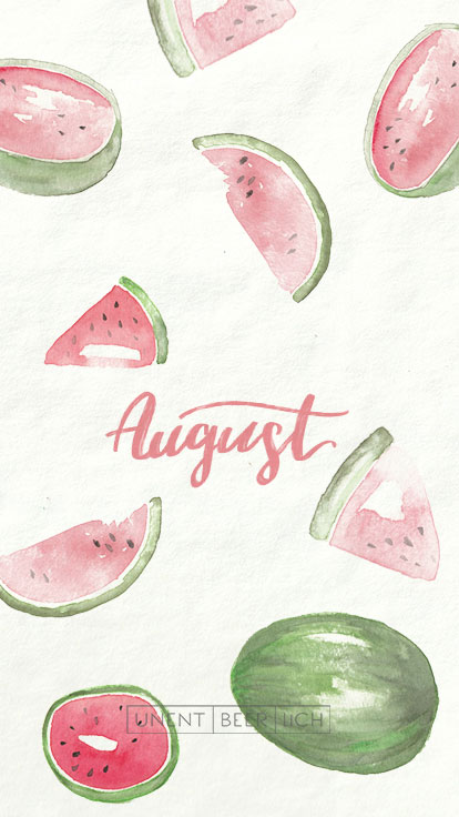 Handy Wallpaper August Melonen
