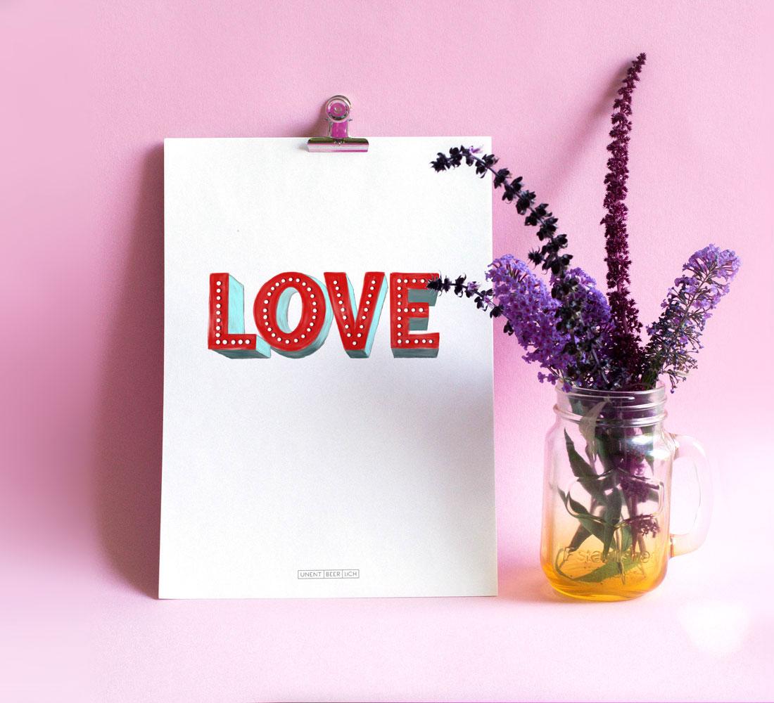 Poster Schriftzug LOVE