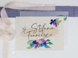 Hochzeitspapeterie Einladung Hochzeit Stefania und Francesco