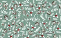 Wallpaper PC Dezember 2019 Brushlettering Illustration Geschenkpapier