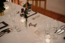 Hochzeit Papeterie Tischnummern